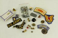 Vintage Us Army Military Pins & Patches Wwii Mixed Date Lot