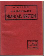 ROPARZ HEMON-DICTIONNAIRE FRANCAIS-BRETON-LIVRE ANCIEN XX ème LANGUE BRETONNE