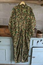 Vintage 1970s Camouflage Hunting Coveralls sz L