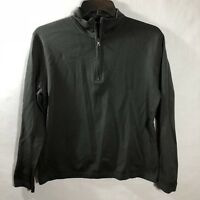 Banana Republic Mens Black Athletic Pullover 1/4/ Zip Workout L/S Size Med
