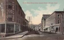 Antique POSTCARD c1907-20 North Main Street from Laurel Street BRISTOL, CT 16601
