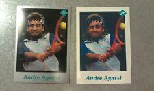 Andre Agassi 1991 Tuff Stuff Jr Tennis USTA Proof White No Black Border SCARCE