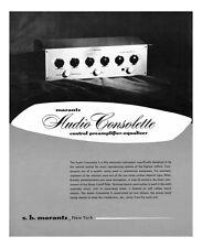 Marantz Audio Consolette Audio Consollette Owners Manual