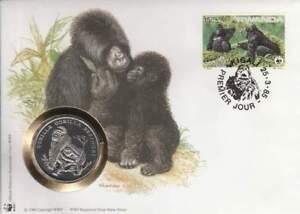 Numisbrief WWF 1985 Rwanda - Gorilla Beringei / Gorilla (060)