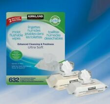 Kirkland Signature Moist Flushable Wipes--632 Ultra Soft Wipes Family Pack