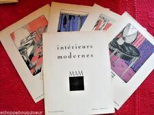 Intérieurs Modernes par MAM Pochoir Art Déco 1921 Gazette Bon Ton 4 litho EO
