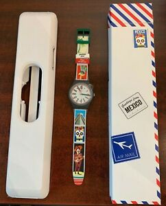 DESTINATION SWATCH Greetings from PLAYA DEL CARMEN Mexico in Box SUOZ268C