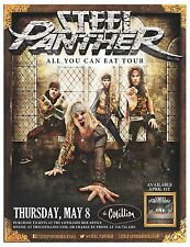 """STEEL PANTHER """"ALL YOU CAN EAT TOUR"""" 2014 WICHITA CONCERT POSTER - Comedy Rock"""