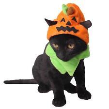 Cute Pumpkin Pet Costume Dress Up Cap Puppy Dogs Cats Halloween Party Decoration