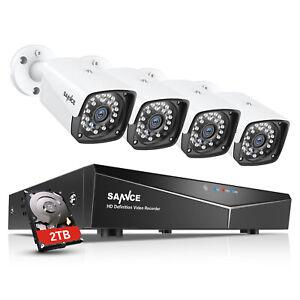 SANNCE 1080P POE 4CH Überwachungskamera NVR 2MP IP Kamera Nachtsicht Email Alarm