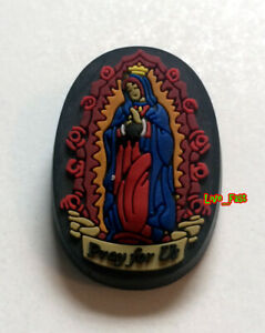 GUADALUPE PRAY FOR US LAPEL PIN lowrider rockabilly kustom kulture low brow art