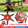 US Outdoor Trimmer Head 6 Steel Blades Razors 65Mn Lawn Mower Grass Weed Cutter