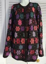 Vintage S.K.V.T. by NICHIMEN  Wool Blend Long Jacket Cardigan Sweater Coat L/XL
