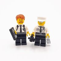 Lego City Police Minifigures Custom Detective and Lieutenant with Accessories