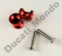 Billet paddock stand spool bobbin red for Aprilia RSV1000 RS125 RS250 M6 6mm