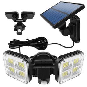 LED Lampe Solaire avec Détecteur de Mouvement Extérieur Projecteur Jardin