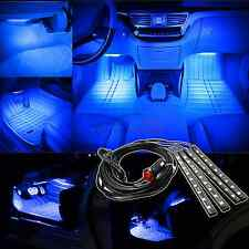 4x Ultra Blue 5050 Car LED Strip Interior Underdash Floor Atmosphere Light Kit