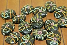 New 15 pc set of Fine, Murano Lampwork Glass Beads - 26mm  - A1890c