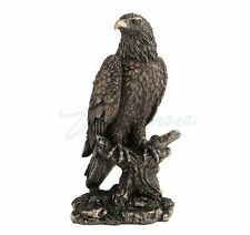 Bald Eagle Sculpture Perching On Tree Branch Sculpture Figurine - GIFT BOXED