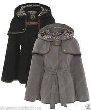 Cappotti e giacche da donna poncho con bottone automatico