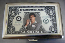 Scarface D 03  Metal Silver Cigarette Case TM I Trust Me Gangster Money Power