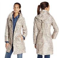 Pendleton Jacket S Brown Animal Print Anorak Packable Trench Hooded Women's Coat