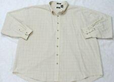 Van Heusen Beige Man's Pocket Dress Shirt Poly Cotton Long Sleeve 3XLT XXXL Tall