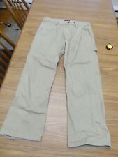 Wolverine Tan Carpenter Hammer Loop Canvas Jeans Pants Very Good Pre Owned