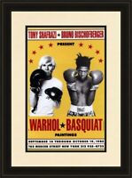 Jean Michel Basquiat Andy Warhol 1985 Boxing Exhibition Poster Framed POP ART