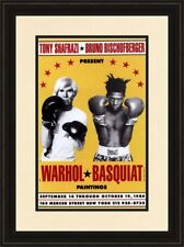 Jean Michel Basquiat Andy Warhol 1985 Boxing Exhibition Poster Framed print