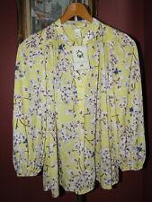 NEW Anna Glover H&M Yellow Floral Botanic Print Tunic Top M NWT