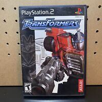Transformers (Sony PlayStation 2, 2004) PS2 COMPLETE & TESTED WITH MANUAL