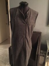 J Brand Wool Blend Charcoal Asymmetrical Sleeveless Moto dress $315 S Sweatshirt