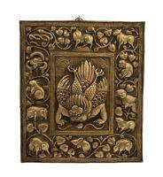 Mandala Calendario Tibetano Garuda Simboli Zodiacale IN Metallo 2771