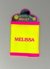 Personally Yours Wallet ~ MELISSA ~ Stocking Stuffer ~Yellow Personalized Wallet