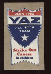 Carl Yastrzemski All Star Team Strike Out Cancer Decal