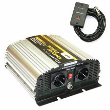 Spannungswandler Inverter MS 12V 1500 3000 Watt incl. Kabelfernbedienung NEU