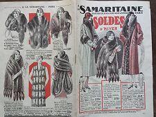 """CATALOGUE MODE """" A LA SAMARITAINE """" SOLDES D'HIVER 1930"""