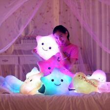 Smile Star Led Flash Light Stuffed Cushion Soft Cotton Plush Throw Pillow Decor