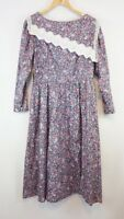 Vintage Gunne Sax Dress Hippie Prairie Boho Victorian Modest Floral Medium