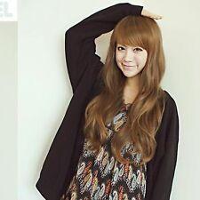 Vivi Fashion women Wig Oblique fringe Fluffy Long Curls Light Brown NEW