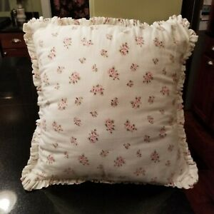 Rachel Ashwell Treasures Pink Rose Ruffle Pillow Shabby Chic 16 x 16