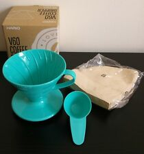 HARIO 02 V60 COFFEE DRIPPER KIT with FILTERS and MEASUREMENT SCOOP GREEN