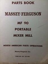 Massey Ferguson Farm Tractor Mf 90 Portable Mixer Mill Implement Parts Manual