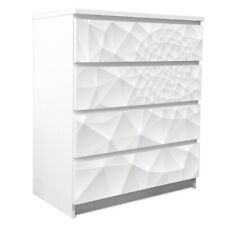 banjado Klebefolie Möbel-Sticker für Ikea Malm 4 Schubladen Nautilus