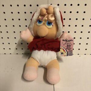 VTG Jim Henson Muppet Babies Miss Piggy 1987 McDonalds Christmas w/ Tags