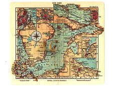 #10126 Seekarte Baltikum Ostpreußen Polen Seefahrt Marine Ostsee Karte Landkarte