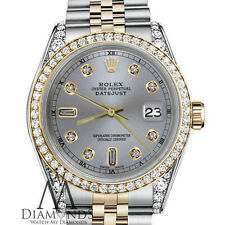 Woman Rolex 31mm Datejust2Two Tone Slate Grey Color Dial with 8+2 Diamond Accent