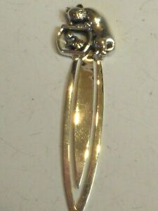 SILVER NOVELTY CAT IN FISH BOWL BOOKMARK