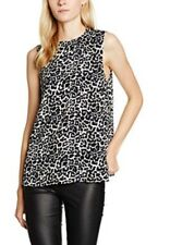 0cba1f1fe08bc8 LOOK Women s Mandy Animal Print Cut out Back Blouse Black Size 10
